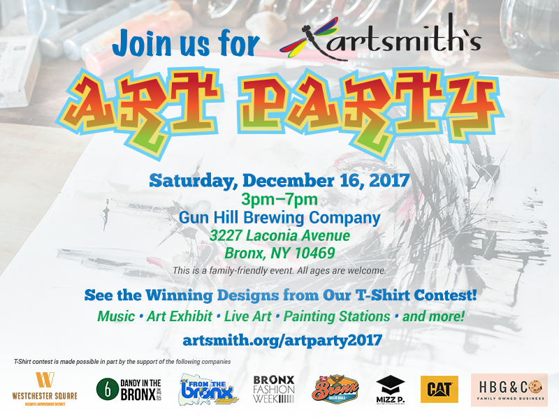 artsmith art party email art 2017
