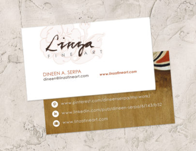 2015 Business Cards Linza Fine Art
