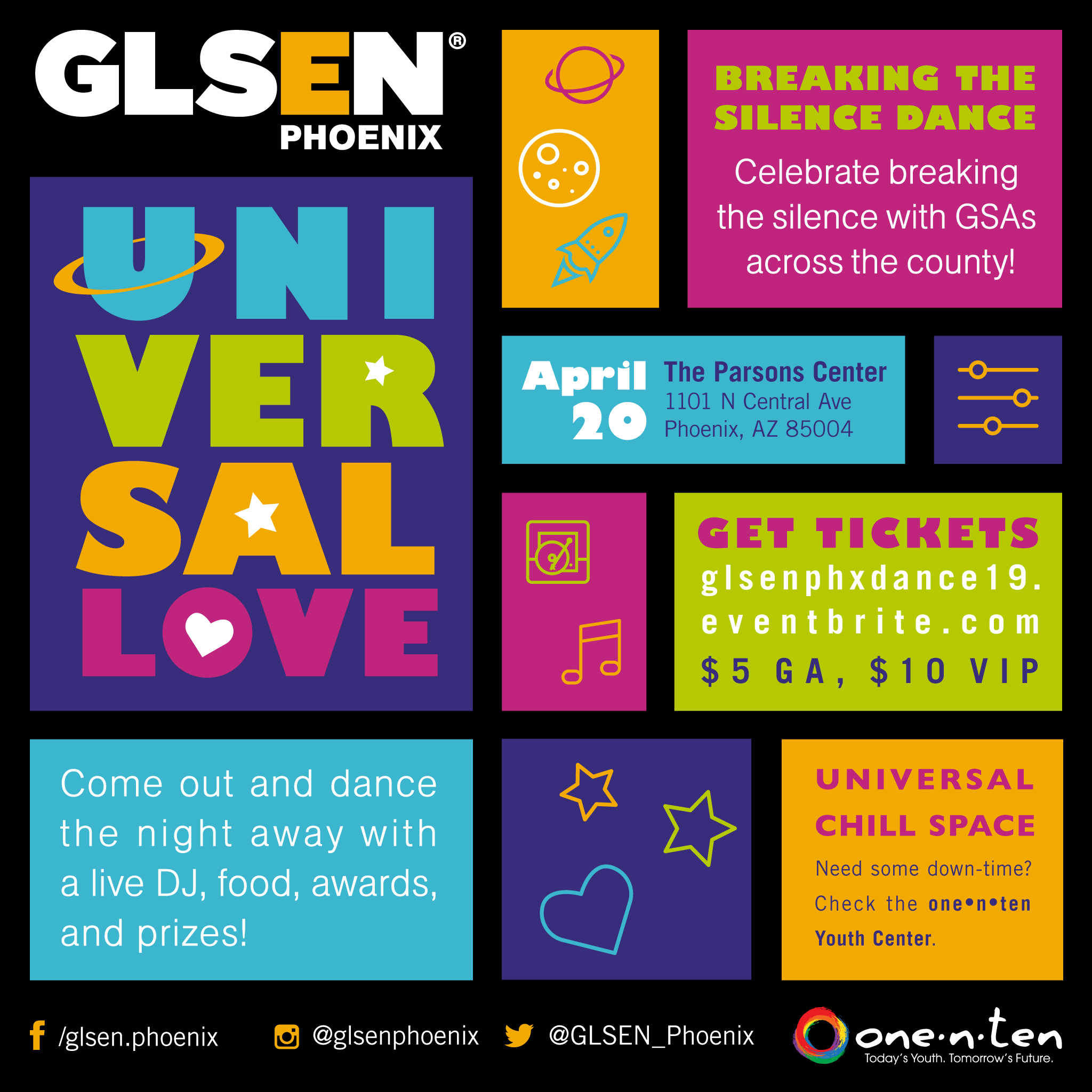 GLSEN PHX 2019 Dance Instagram feed ad