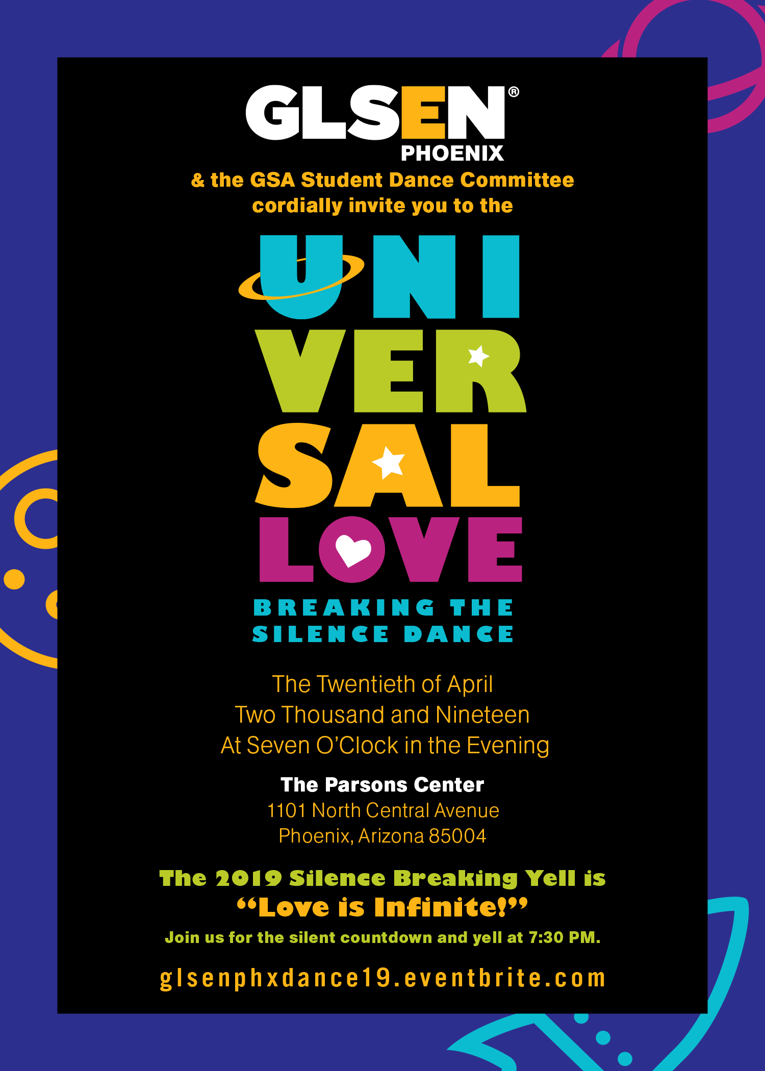 GLSEN PHX 2019 Dance Invitation