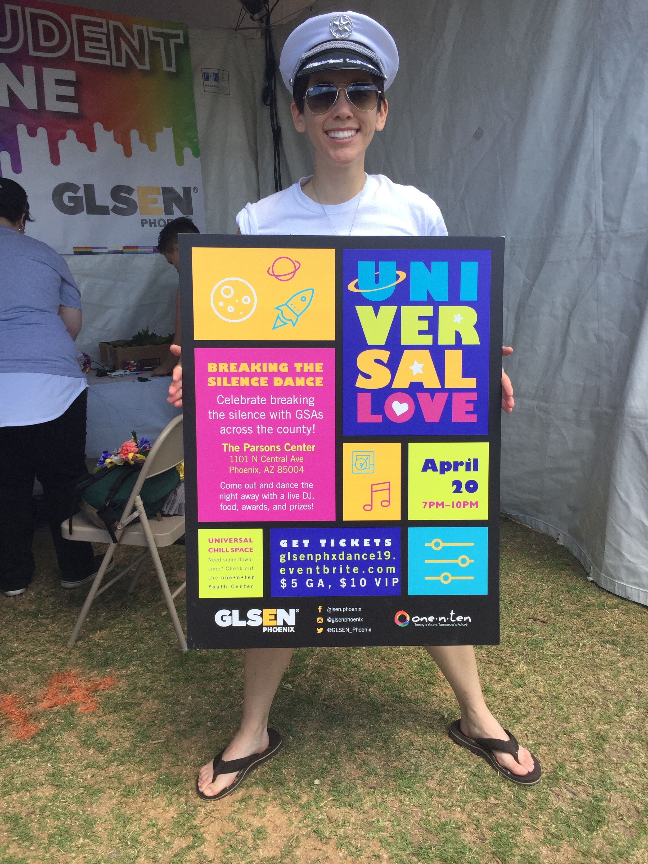 GLSEN PHX 2019 Dance Sign for Pride Booth
